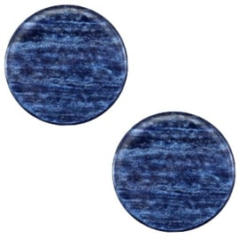 Cabochon Polaris plat 12mm sparkle dust montana blue 38706