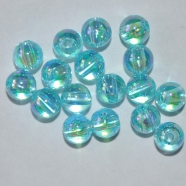 Acrylkraal 6mm rond aqua AB