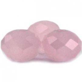 Top facet 4x3mm rondel roze opaal 10 stuks 8536