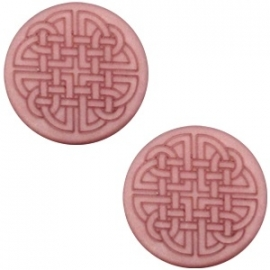 Cabochon Polaris plat 12mm celtic print matt antique pink 31914