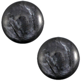 Cabochon Polaris 7mm jais anthracite grey 27468