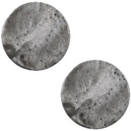 Cabochon Polaris plat 20mm shiny stormy silver grey 30279
