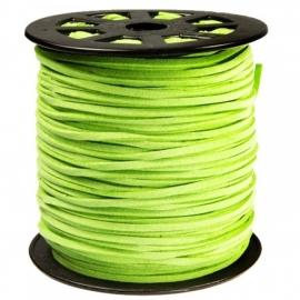 Imitatie suede 3mm licht groen