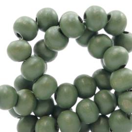 Houten kralen 6mm island palm green 50153 10 stuks