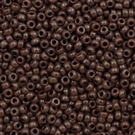 Miyuki rocailles 11/0 (2mm) opaque chocolate brown 11-409