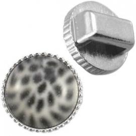 DQ metaal vintage slider voor 12mm cabochon zilver 20192