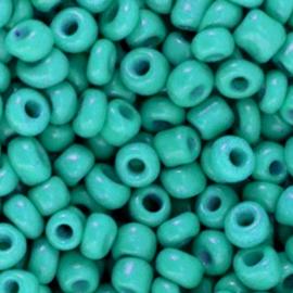 Rocailles 4mm 6/0 viridian green 68253