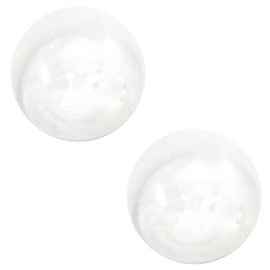 Cabochon Polaris 12mm pearl shine white 46242
