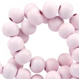 Houten kralen 6mm pink champagne 34344 10 stuks