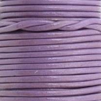 DQ Leer rond 2mm paars per 20cm