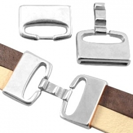 DQ clipsluiting voor 20mm antiekzilver nikkelvrij 21624