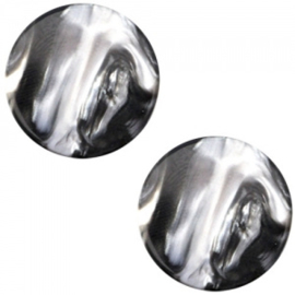 Cabochon Polaris plat 7mm perseo black silver 30556