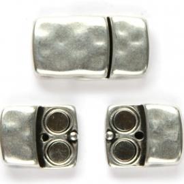 DQ magneetslot voor 10x2,4mm antiekzilver mf6696