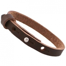 Cuoio armband 8mm leer fudge brown 20058