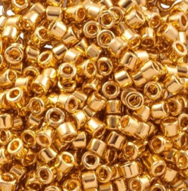 Miyuki delicas 11/0 (2mm) gold plated