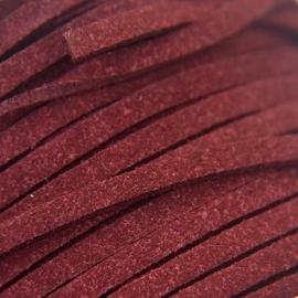 Imitatie suede 3mm donker rood