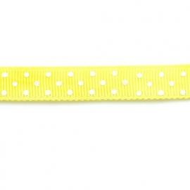 Lint met stip 10mm per meter geel