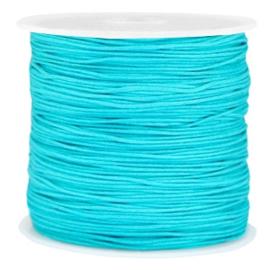 Macramé draad 0,8mm turquoise blue 37747