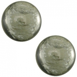 Cabochon Polaris 12mm jais agave green 27482
