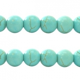 Turquoise Keramiek kralen rond 8mm turquoise blauw