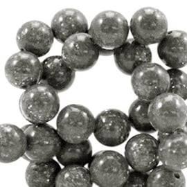 Natuursteen kraal  8mm glitterline antracita grey 41491