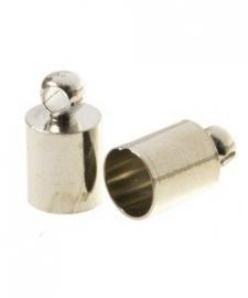 Eindkapje voor 5mm nikkelkleur