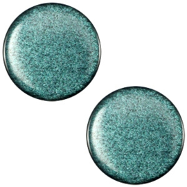Cabochon Polaris plat 12mm soft tone shiny emerald green 33387
