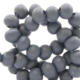 Houten kralen 6mm rock grey 50141 10 stuks