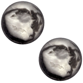 Cabochon Polaris plat 12mm perseo matt black silver 31920