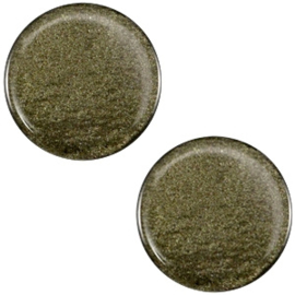 Cabochon Polaris plat 12mm soft tone shiny army green 33379