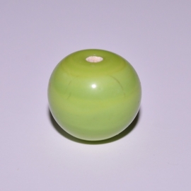 Glaskraal 14mm rond lime