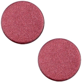 Cabochon Polaris plat 12mm soft tone matt aubergine red 33369