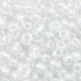 Rocailles 4mm 6/0 crystal pearl 60235