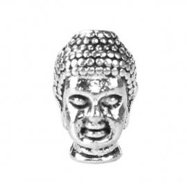 Boeddha 13x8x10mm antiekzilver metaal