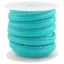 DQ Stitched nappa leer 4mm azuur blauw 22736