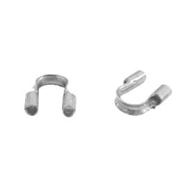 DQ wire guardian 5x5mm 10 stuks antiek zilver nikkelvrij