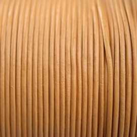 DQ Leer rond 3mm beige per 20cm