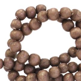 Houten kralen 6mm walnut brown 69898 10 stuks
