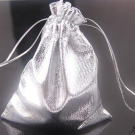 Cadeautasje 12x10cm zilver