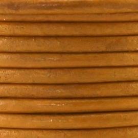 Leer rond 4,5mm camel lichtbruin per 20cm