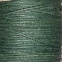 Waxkoord donker groen 1mm per meter