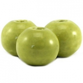 Keramiek kralen 10mm rond licht lime groen