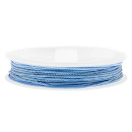 Satijnkoord light blue 0,5mm per meter BA011