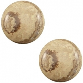 Cabochon Polaris 20mm carrara shiny stone look straw beige 19483