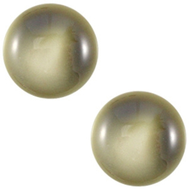 Cabochon Polaris 12mm centroperla capulet olive green 20440