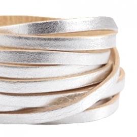 DQ Leer plat 5mm zilver-beige 32423