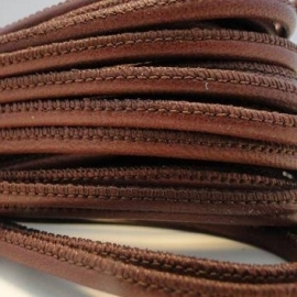 DQ Stitched nappa leer 3mm donker oudroze