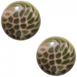 Cabochon Polaris 20mm leopard pink 17110