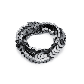 Hematite kralen arrow 8mm anthracite grey 170308