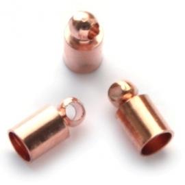 Eindkapje voor 3mm roségoud